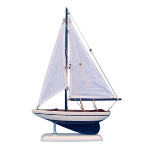 White sailboat – 17″