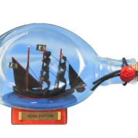 pirate ship in a bottle – 7″